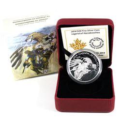 2014 Canada $20 Nanaboozhoo & the Thunderbird's Nest Fine Silver Coin (Sleeve dented on one corner).