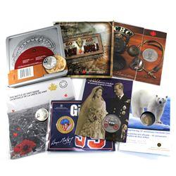 Grab Bag of 7x Royal Canadian Mint Commemorative Coins and Sets. 7pcs