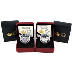 2014 Canada $5 Tradition of Hunting - The Seal & Canada Goose Fine Silver Coins. 2pcs (TAX Exempt)