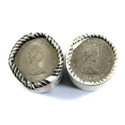 1982 Constitution & 1984 Jacques Cartier Nickel Dollar Original Rolls of 20pcs. 2 rolls