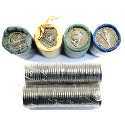*1966, 1967, 1977, 2005, 2008 & 2011 Canada 5-cent Original Rolls of 40pcs. 6 rolls