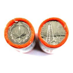 2005P Alberta & 2006 Logo Bravery 25-cent Original Rolls of 40pcs. 2 rolls