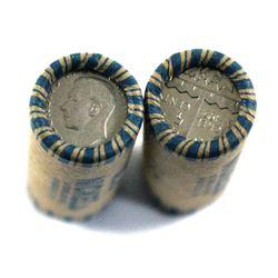 1951 Canada Refinery 5-cent Rolls of 40pcs. 2 rolls