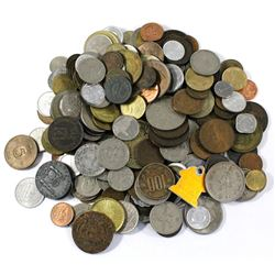 Group Lot of Miscellaneous World Coinage. You will receive 1.9lbs of coins.