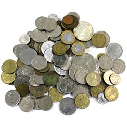 Group Lot of Miscellaneous World Coinage. You will receive 1.3lbs of coins.