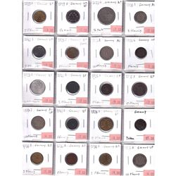 1875-1973 Germany Coinage in Plastic Page. 20pcs
