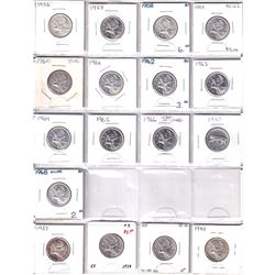 Estate Lot of 36x Silver 25-cent from 1937-1955! Lots of higher graded coins! Great starter Lot! 36p