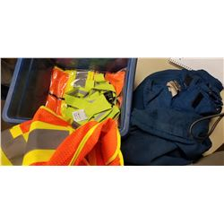 FIRE RETARDANT COVERALLS AND SAFETY VEST