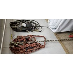 TOW CHAIN, BRAIDED ROPE, PLUS MISC