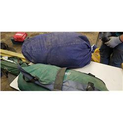 COLEMAN AIR MATTRESS AND TREKK SLEEPING BAG