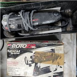 ROTO ZIP HEAVY DUTY SPIRAL SAW, ROCKWELL F50 SONICRAFTER