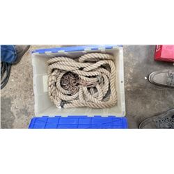 TOW ROPE, TOW CHAINS, BRAIDED ROPE