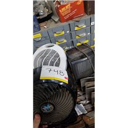 COMMERCIAL GRADE FAN AND SPACE HEATER