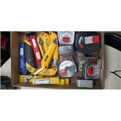 OLFA, LUFKIN, WESTWARD TAPE MEASURES AND BOX CUTTERS