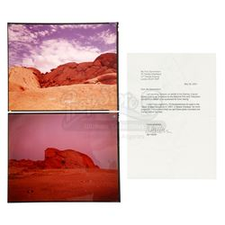 Lot #2 - 2001: A SPACE ODYSSEY (1968) - Dawn of Man Sequence Background Transparencies from Kubrick