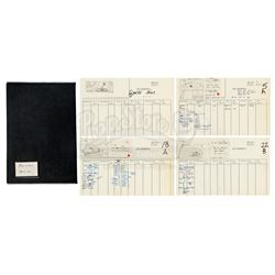 "Lot #13 - ALIEN (1979) - Hand-Drawn Ridley Scott ""Ridleygram"" Miniatures Storyboards and Shot List"