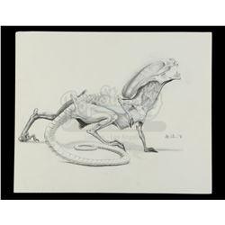 Lot #31 - ALIEN3 (1992) - Hand-Drawn Runner Illustration by Alec Gillis