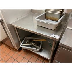 3FT STAINLESS STEEL PREP TABLE
