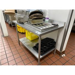 4FT STAINLESS STEEL PREP TABLE