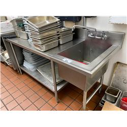 6FT STAINLESS PREP TABLE WITH SINK