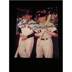 Ted Williams Mickey Mantle Autograph 8X10 Photo W/COA