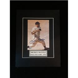 Mickey Mantle  Autograph Matted 11x14 Photo W/COA