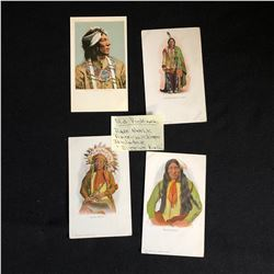 RARE VINTAGE AMERICAN INDIAN CHIEFS POST CARD LOT