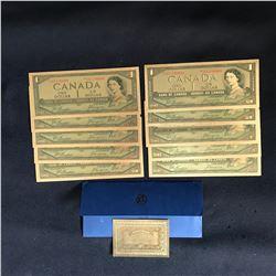 Canada Banknotes 1 Dollar Gold Plated Banknotes