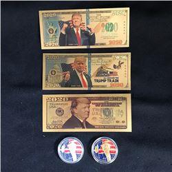 DONALD TRUMP GOLD PLATED BANK NOTES