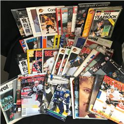 VANCOUVER CANUCKS MAGAZINE/ YEARBOOKS LOT