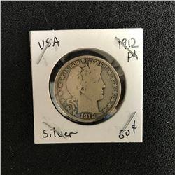 1912 USA SILVER HALF DOLLAR (PHILADELPHIA MINTED)