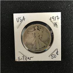 1917 USA SILVER DOLLAR (PHILADELPHIA MINTED)