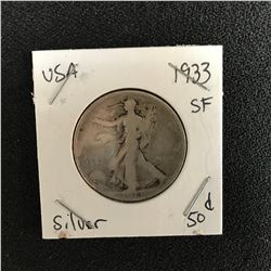 1933 USA WALKING LIBERTY HALF DOLLAR (SAN FRANCISCO MINTED)