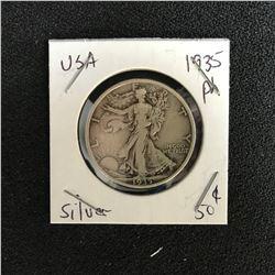 1935 USA WALKING LIBERTY HALF DOLLAR (PHILADELPHIA MINTED)