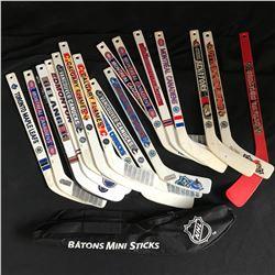 BATONS NHL MINI STICKS LOT