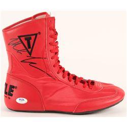 Mike Tyson Signed Title Boxing Shoe (PSA COA)