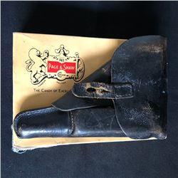 WW II GERMAN GUN CASE WITH CLIP 1944 LEUGER