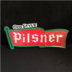 OLD STYLE PILSNER TIN ADVERTISING SIGN