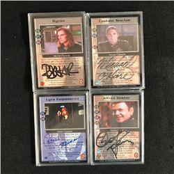 CAST SIGNED BABYLON 5 TRADING CARDS