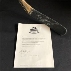 ED JOVANOVSKI SIGNED HOCKEY STICK (NHL ALUMNI LOA)