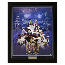 1993 WORLD SERIES CHAMPIONS MULTI SIGNED TORONTO BLUE JAYS FRAMED DISPLAY