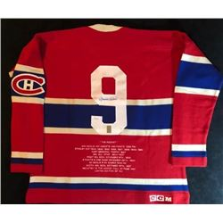 """MAURICE """"ROCKET"""" RICHARD SIGNED CANADIENS STATS JERSEY (WG AUTHENTIC)"""