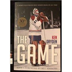 "KEN DRYDEN SIGNED ""THE GAME"" HOCKEY BOOK"