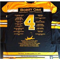 Bobby Orr Signed Bruins Stats Jersey (GNR Holo)