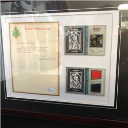 LILLIAN GISH SIGNED LETTER w/ SILVER SCREEN DOUBLE MATERIALS FRAMED DISPLAY (JSA C0A)
