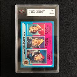 1979-80 O-PEE-CHEE #1 GOAL LEADERS (9 MINT)