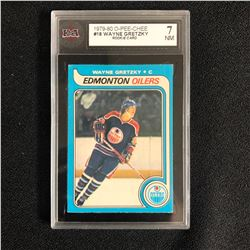 1979-80 O-Pee-Chee #18 Wayne Gretzky Rookie Card (7 NM)