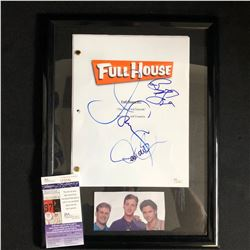 Bob Saget, John Stamos and Dave Coulier Signed Full House Script (JSA COA)