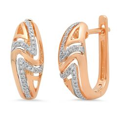 14k Gold 0.14CTW Diamond Earrings, (I1)