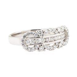 0.54 ctw Diamond Ring - 18KT White Gold